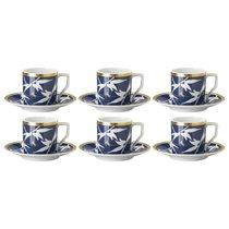"""Набор чашек для эспрессо с блюдцами Rosenthal """"Турандот"""" 70мл (синяя, золотой кант), 6шт - Rosenthal"""