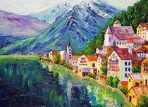 Подставки на пробке Южные Альпы 40х29 см(4шт) - Top Art Studio