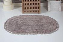 """Коврик для ванной """"MODALIN"""" кружевной YANA 60x100 см 1/1, цвет мокко, 60x100 - Bilge Tekstil"""