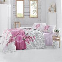 Постельное белье Ranforce Rosen, цвет розовый, размер Евро - Altinbasak Tekstil