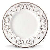 Тарелка обеденная Lenox Чистый опал, платина 27см, фарфор