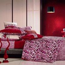 Комплект постельного белья SDS-32, цвет красный, размер Евро - Famille
