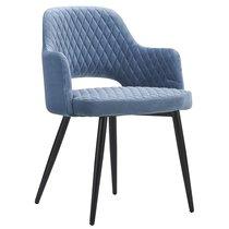 Кресло Burgos, велюр, голубое - Berg