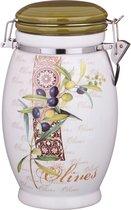 Емкость Для Сыпучих Продуктов Оливки 1100 мл Высота 20 см - Huachen Ceramics
