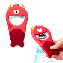 Открывалка Monster красная магнитная, цвет красный - Balvi