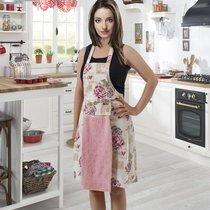 Фартук кухонный Karna с салфеткой 30x50, цвет розовый - Bilge Tekstil
