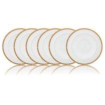 """Набор из 6 тарелок обеденных Noritake """"Рочель,золотой кант"""" 27см - Noritake"""
