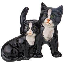 Декоративное Изделие Пара Черных Котят 18x14x17 см - Ceramiche Boxer