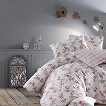 Постельное белье Ranforce Clair, цвет красный, 1.5-спальный - Altinbasak Tekstil