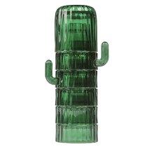 Набор из 6-ти стеклянных стаканов Saguaro, зеленый - DOIY