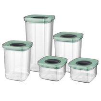 Набор 5пр пищевых контейнеров с герметизирующей крышкой Leo, цвет мятный - BergHOFF