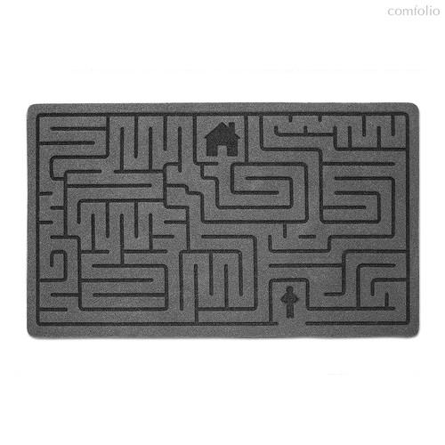 Коврик придверный Labyrinth серый, цвет серый - Balvi