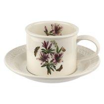 """Чашка чайная с блюдцем Portmeirion """"Ботанический сад. Рельеф. Азалия"""" 260мл - Portmeirion"""