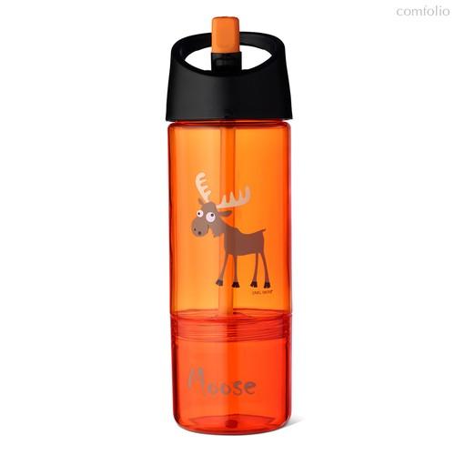 Детская бутылка 2в1 Carl Oscar Moose оранжевая, цвет оранжевый - Carl Oscar