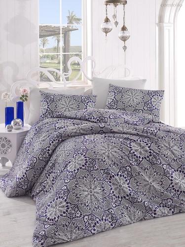 Постельное белье Ranforce Rozi, цвет синий, размер 1.5-спальный - Altinbasak Tekstil