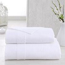 Полотенце Karna Truva, микрокотон двухсторонний, цвет белый, размер 50x100 - Karna (Bilge Tekstil)