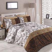 Постельное белье Altinbasak Rebecca, сатин, цвет коричневый, размер Евро - Altinbasak Tekstil