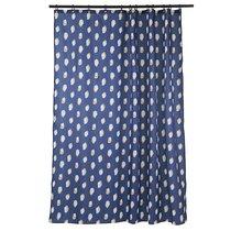 Штора для ванной темно-синего цвета с принтом Sun Spots из коллекции Wild - Tkano