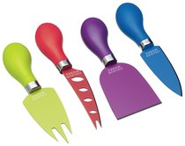 Нож для сыра, набор 4 шт, Colourworks Brights - KitchenCraft