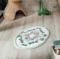 """Коврик для ванной """"MODALIN"""" овальная VERA 50x80 см 1/1, цвет зеленый, 50x80 - Bilge Tekstil"""