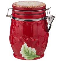Емкость Для Сыпучих Продуктов Маковый Цвет 700 мл/ 11X11 см Высота 15 см - Huachen Ceramics