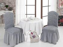 "Чехлы на стулья 1/2 ""BULSAN"", цвет серый - Bulsan"