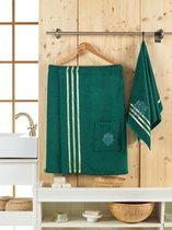 Сауна махра мужская JUANNA 2 предмета SEVAKIN, цвет темно-зеленый - Meteor Textile