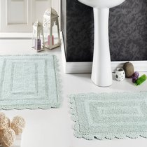 Набор кружевных ковриков Evora, цвет зеленый, размеры 50x70, 60x100 - Modalin