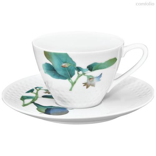 """Чашка чайная с блюдцем 210мл """"Овощной букет"""" """"Баклажан"""" - Noritake"""
