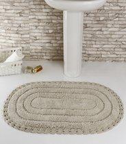 """Коврик для ванной """"MODALIN"""" кружевной YANA 60x100 см 1/1, цвет экрю, 60x100 - Bilge Tekstil"""