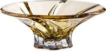 ФРУКТОВНИЦА OKLAHOMA AMBER ДИАМЕТР 30,5 см . ВЫСОТА 12 см ., цвет янтарный - Aurum-Crystal