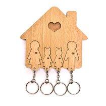Ключница «Семья с двумя дочками» - Mimi