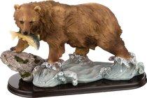 Фигурка Медведь С Рыбой Длина 33 см Высота 18 см - Chaozhou Fountains&Statues