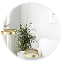Зеркало с полочками Perch 60 см латунь - Umbra