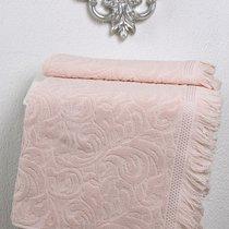 Полотенце махровое Karna Esra, цвет абрикосовый, размер 50x90 - Karna (Bilge Tekstil)