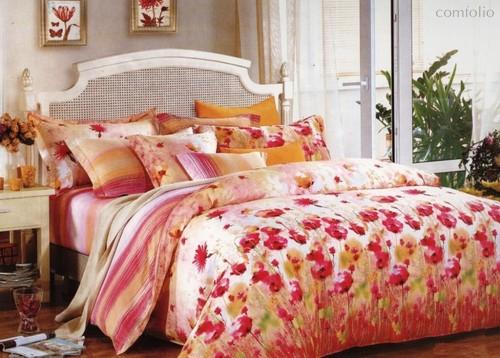 Комплект постельного белья С-140, цвет оранжевый, размер 1.5-спальный - Valtery
