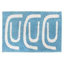 Коврик для ванной Go round голубого цвета Cuts&Pieces, 60х90 см - Tkano
