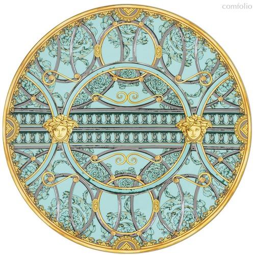 """Тарелка подстановочная Rosenthal Versace """"Ла Скала"""" 33см (зеленая) - Rosenthal"""