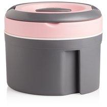 Термокастрюля Pinnacle 2,5л (розовая крышка), цвет розовый/серый - Pinnacle