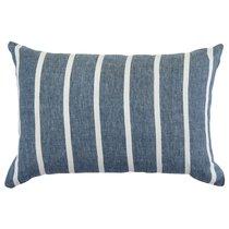 Чехол на подушку декоративный в полоску темно-синего цвета из коллекции Essential, 40х60 см - Tkano