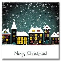 """Картина """"Новогодняя сказка"""", 40x40 см, 11-9393/1, цвет разноцветный - Altali"""