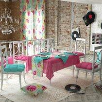 "Дорожка на стол ""Марселла"", 40х140 см, P798-1800/1, цвет малиновый - Altali"