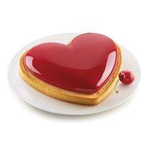 Форма для приготовления торта и пирожного Mon Amour 18,8 х 15,8 х 2,6 см силиконовая - Silikomart