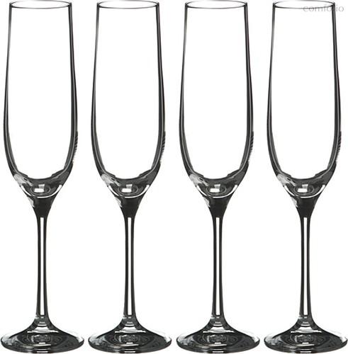 Набор бокалов для шампанского из 4 шт. БАР 190 МЛ ВЫСОТА=24 СМ (КОР=12Набор.) - Crystalex