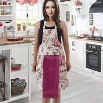 Фартук кухонный Karna с салфеткой 30x50, цвет фуксия - Bilge Tekstil