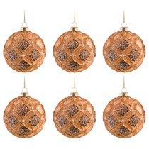 Набор Из 6-Ти Декоративных Изделий Коллекция Винтажшар Диаметр 8 см ,Высота 9 см Цвет Бронза - Dalian