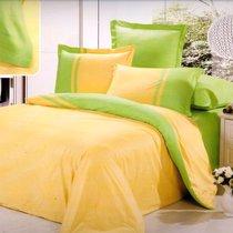 Лимонный пирог - комплект постельного белья, цвет желтый, Семейный - Valtery