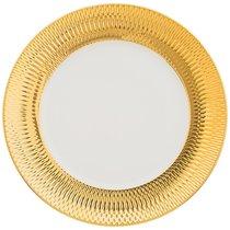 Тарелка Обеденная Bronco Crocus 27,5 см Золотая - Porcelain Manufacturing Factory