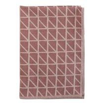 Полотенце кухонное с принтом Twist бордового цвета Cuts&Pieces, 45х70 см - Tkano