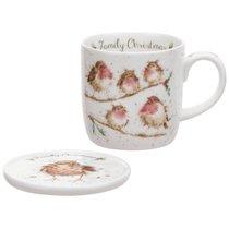 """Кружка Royal Worcester """"Забавная фауна"""", """"Семейное рождество"""" (Птицы) 310мл, костяной фарфор - Royal Worcester"""